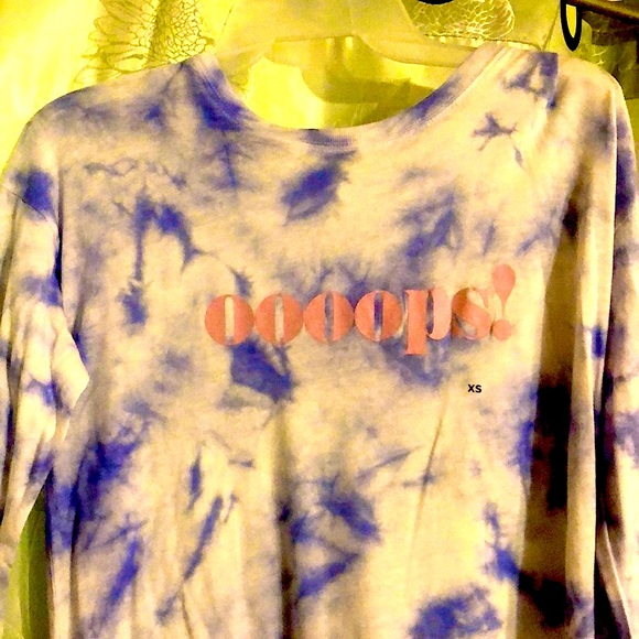 🔴Oooops! Blue-white Tie dyed l/s soft tee